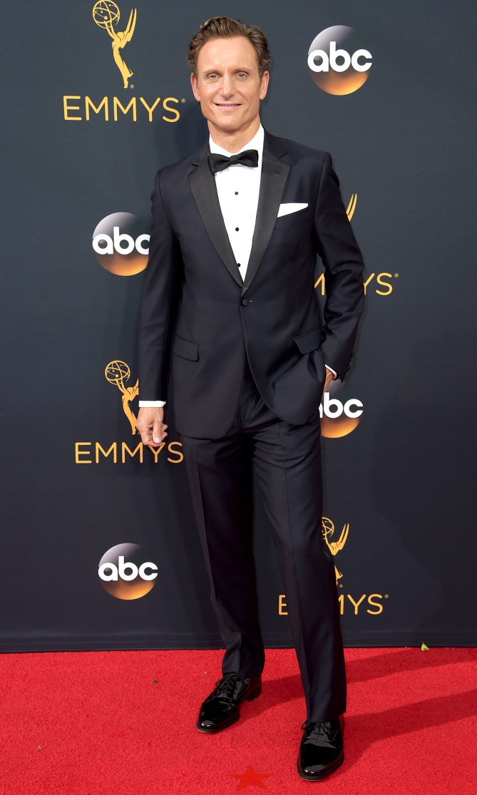 Tony Goldwyn arrives at the 68th Primetime Emmy Awards on Sunday, Sept. 18, 2016, at the Microsoft Theater in Los Angeles. (Photo by Richard Shotwell/Invision/AP)